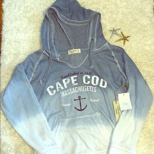 Blue ombré cape cod sweatshirt